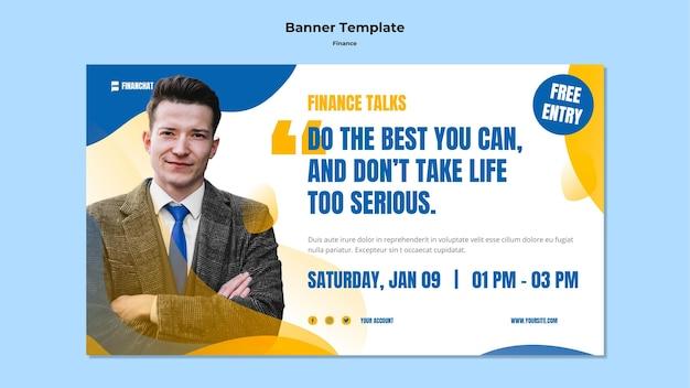 Horizontale banner voor zakelijke en financiële seminars