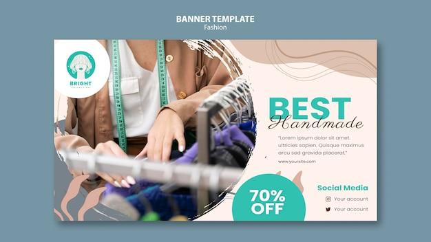 Horizontale bannersjabloon voor modecollectie