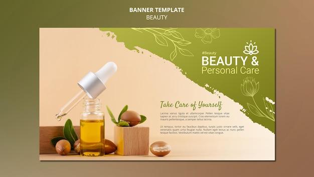 Horizontale bannersjabloon voor persoonlijke verzorging en schoonheid