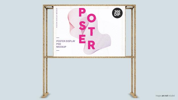 Horizontale posterweergave met houten frame