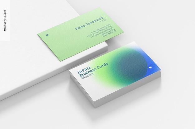 Horizontale visitekaartjes mockup, gestapelde set