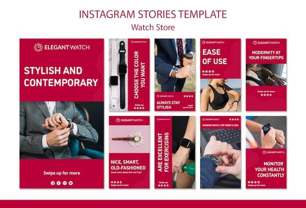 Horloges voor alle stijlen instagramverhalen