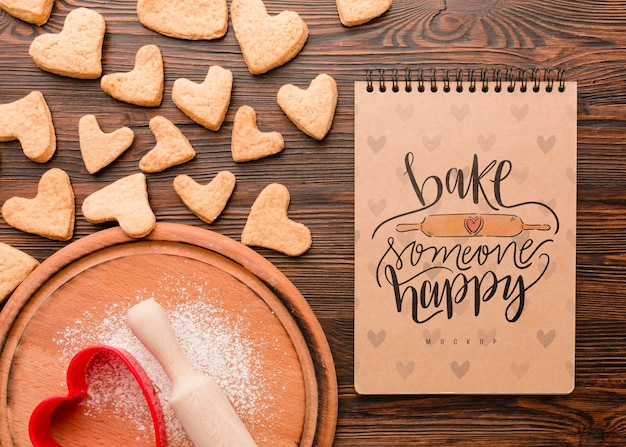 Hornear con concepto de amor