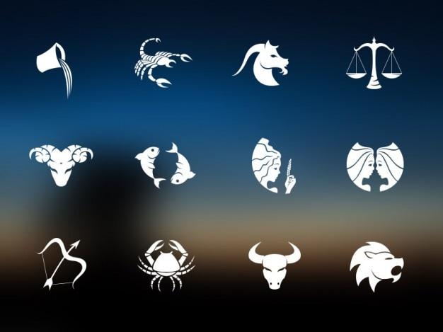 Horóscopo plantilla iconos psd