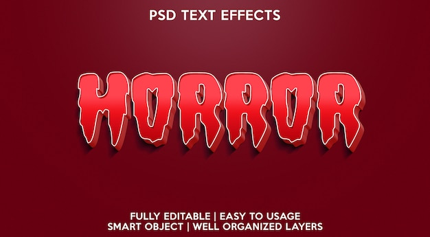 Horrortext effect
