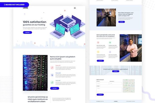 Hosting van websitepagina-ontwerp