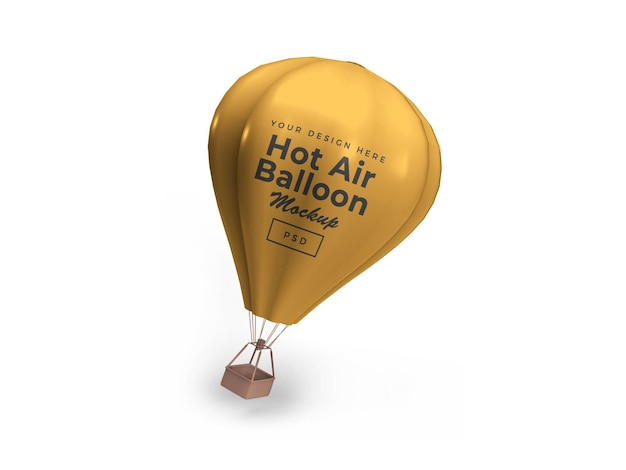 Hot air balloon 3d mockup design