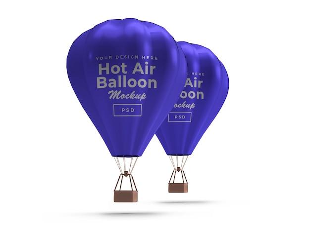 Hot air balloon mockup geïsoleerd