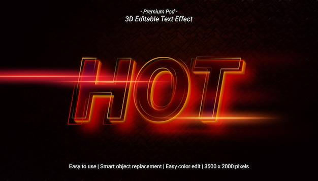 Hot text effect sjabloonontwerp