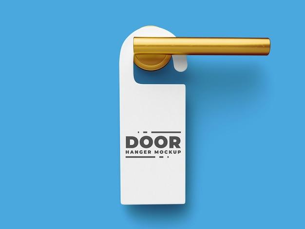 Hote door hanger mockup-sjabloon