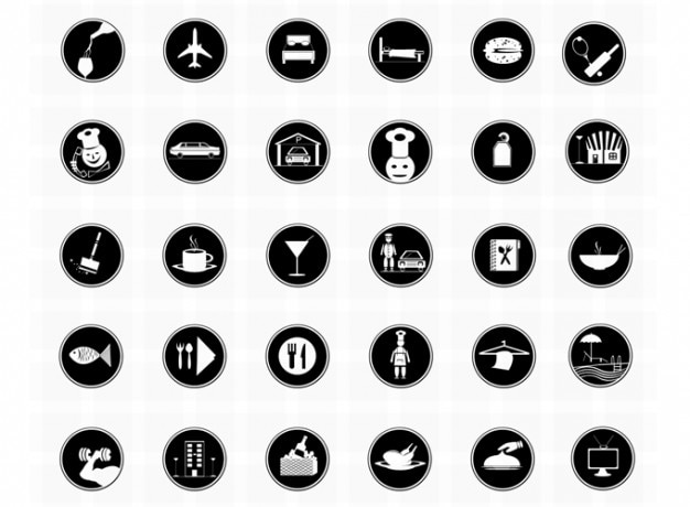 Hotel icons photoshop iconen restaurant iconen vector iconen