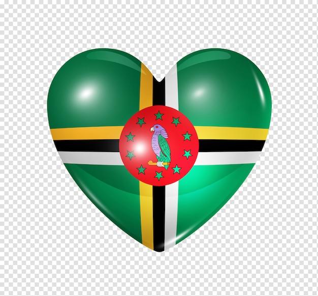 Hou van dominica, hart vlagpictogram