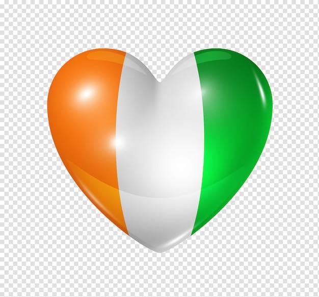 Hou van ivoorkust, hart vlag symbool