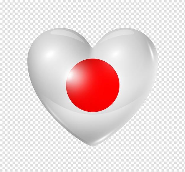 Hou van japan, hart vlagpictogram