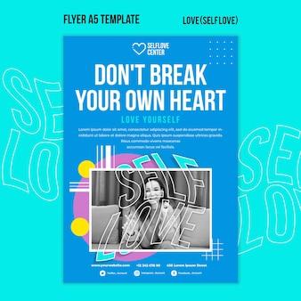 Houd van jezelf flyer-sjabloon