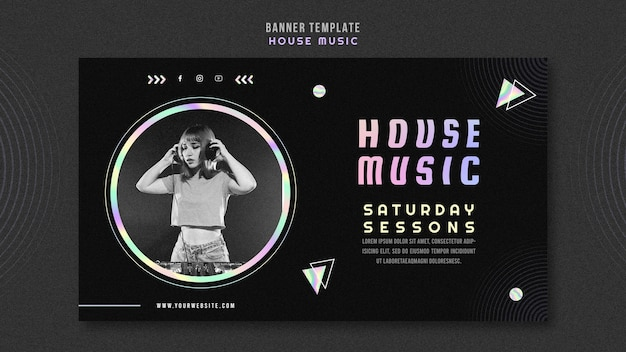 House muziek sjabloon voor spandoek