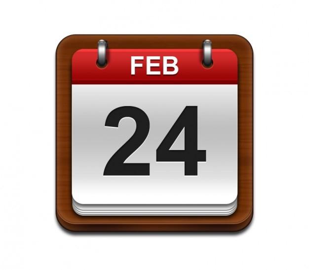 Hout kalender mobiele telefoon