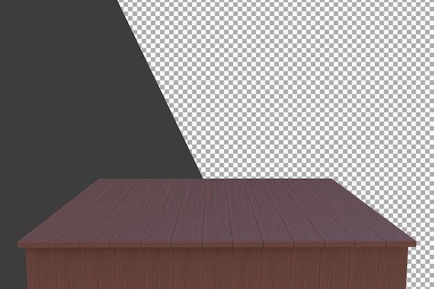 Houten bord 3d-rendering geïsoleerd