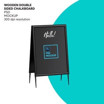 Houten dubbelzijdige schoolbordmodel