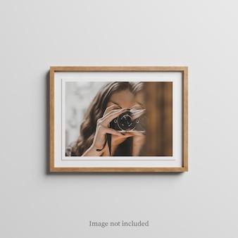 Houten frame mockup