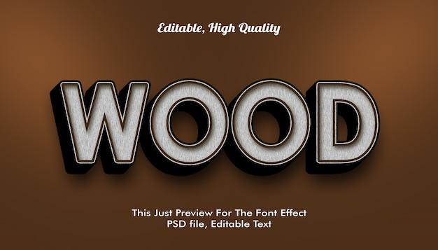 Houten, modern vormgegeven 3d trendy lettertype-effect