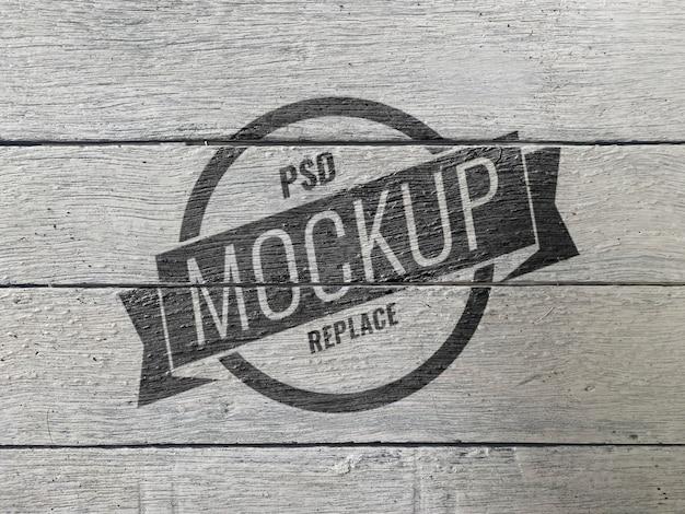 Houten muur textuur vintage mockup