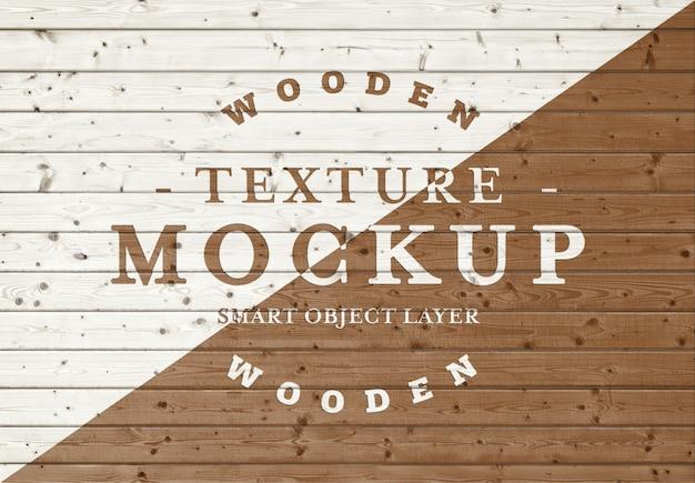 Houten plank textuur mockup