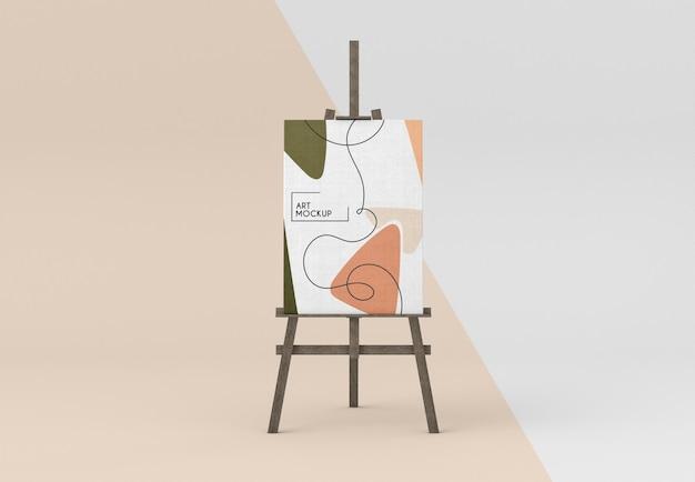 Houten schildersezel met canvasmodel