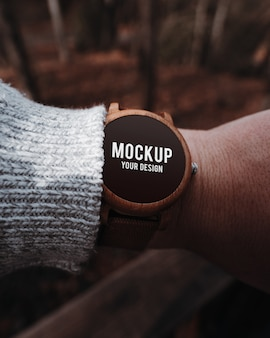 Houten smartwatch-model