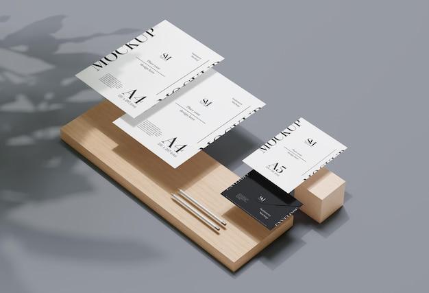 Houten stationair levitatiemodel