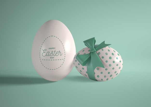 Huevos de chocolate envueltos para pascua