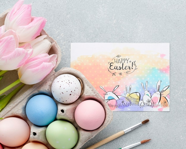 Huevos pintados para pascua