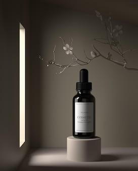 Huidverzorging hydraterende cosmetische premium producten mockup