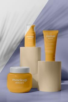 Huidverzorgingsproducten mock-up assortiment