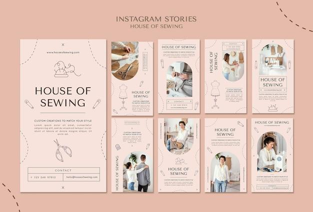 Huis voor het naaien van instagramverhalen