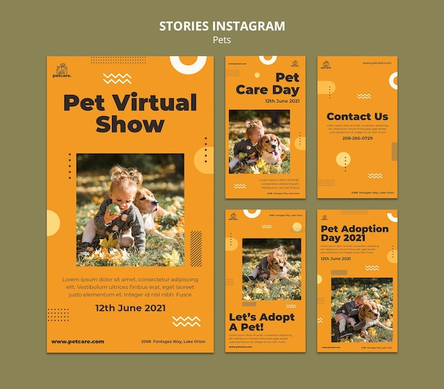 Huisdier virtuele show instagramverhalen