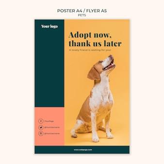 Huisdieren poster sjabloonontwerp