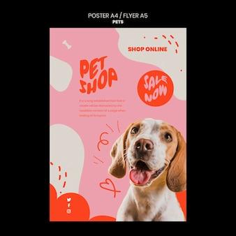 Huisdierensjabloon van verticaal posterontwerp