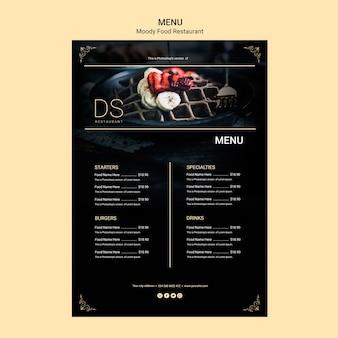 Humeurig eten restaurant menu