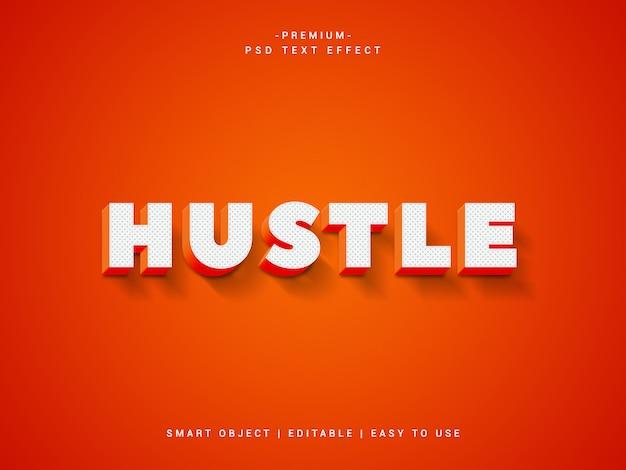 Hustle premium psd-teksteffect