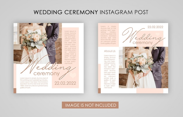 Huwelijksceremonie instagram post template