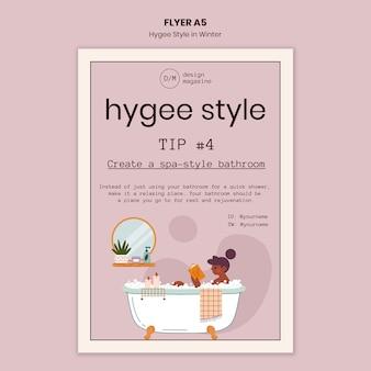 Hygge spa-stijl flyer-sjabloon