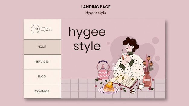 Hygge stijl websjabloon