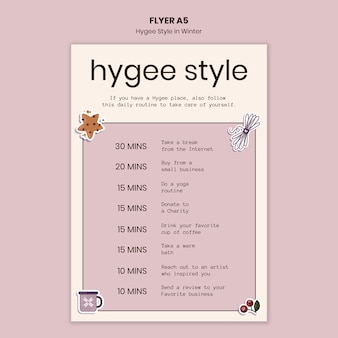 Hygge stijlsjabloon folder