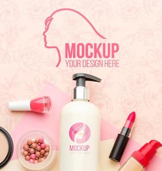 Hygiëne- en schoonheidsconcept mock-up