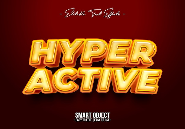 Hyperactief tekststijleffect