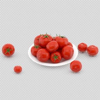 I pomodori isometrici 3d rendono