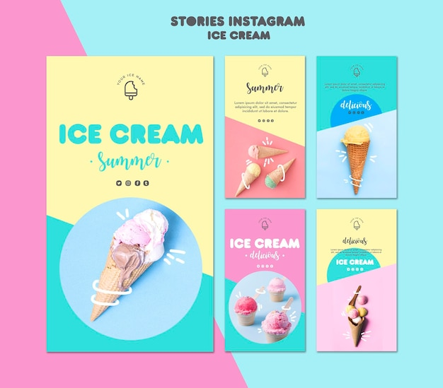 Ice cream instagram stories