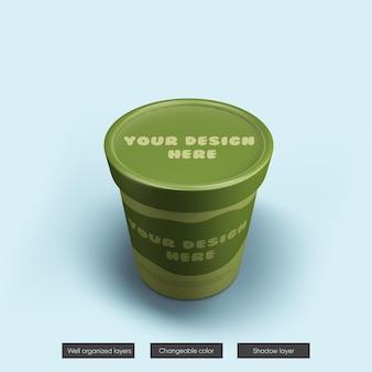 Ice cream jar mockup in 3d-rendering