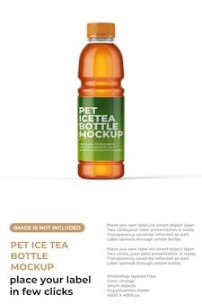Ice tea fles miockup
